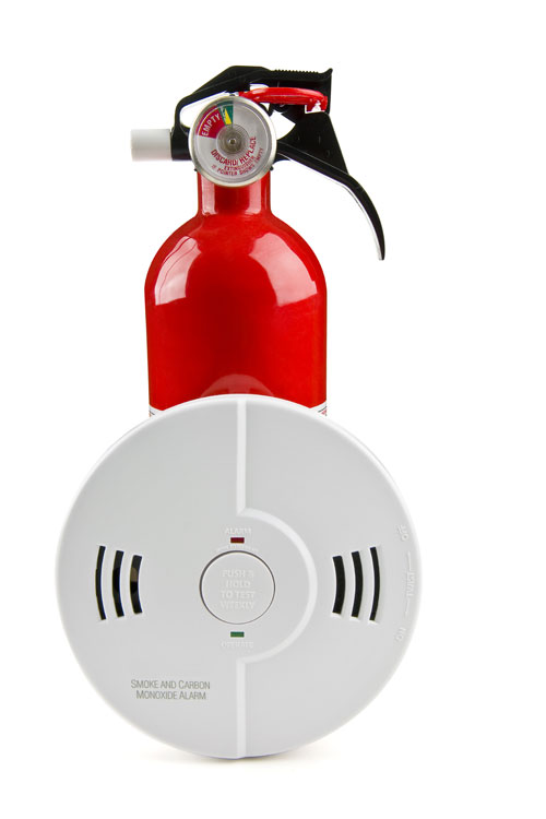Domestic Fire Extinguisher and Smoke and Carbon Monoxide Alarm